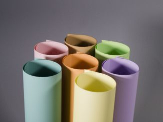 Coloured paper can pack a punch