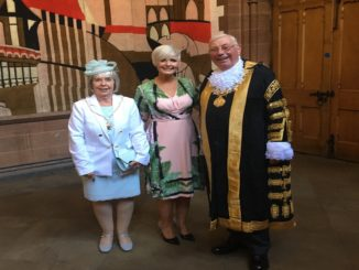 Fiona MacDougall with Janet the Lady Mayoress and The Lord Mayor of Chester Councillor Alex Black