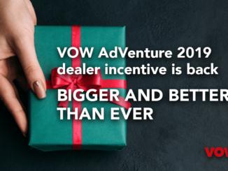 VOW AdVenture 2019 dealer incentive is back