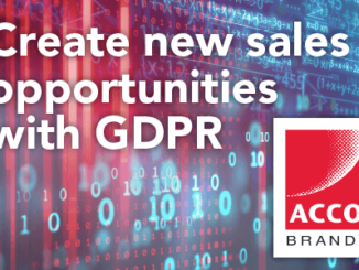 Create new sales opportunities with GDPR