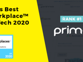 Prima announced as number one in UK's Best Workplaces™ in tech