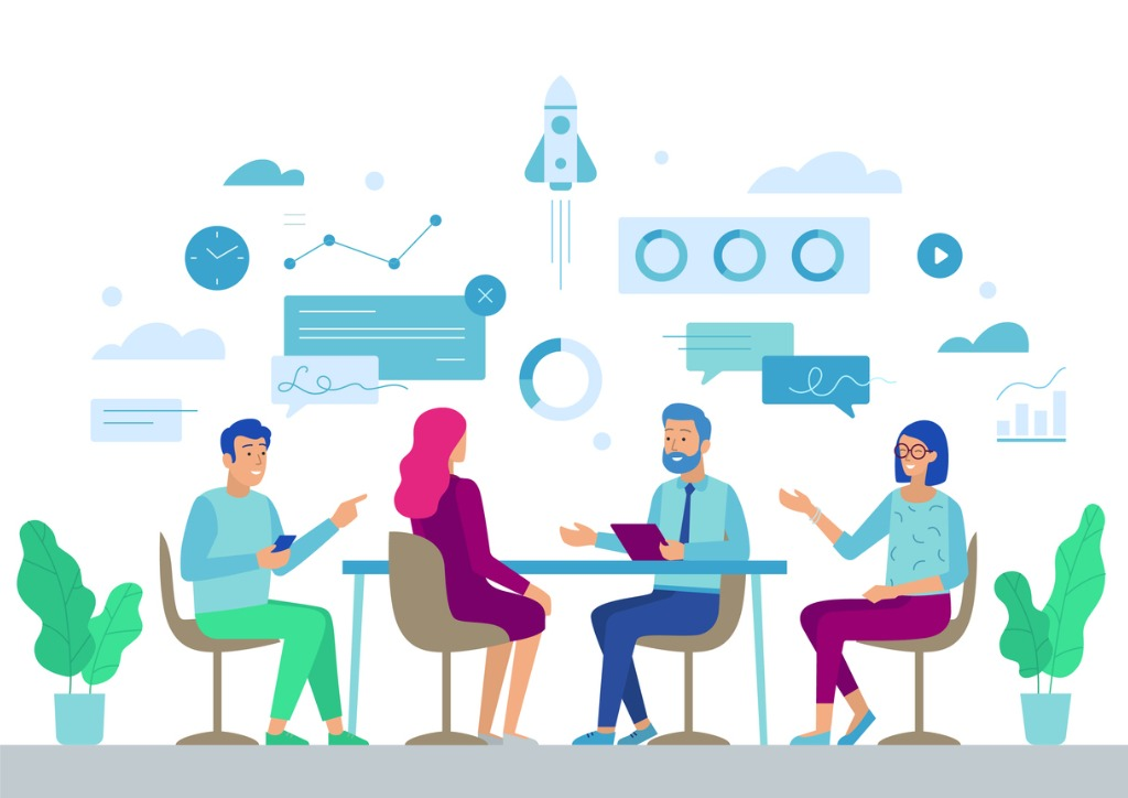 business-board-meeting-in-office-brainstorming-vector-id1151888340