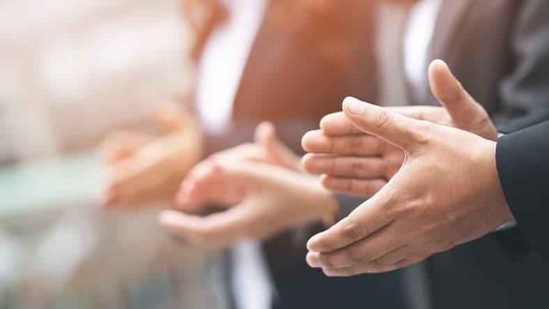 People Business Congratulation, Management Corporate Company. Customer Service Evaluation Teamwork.