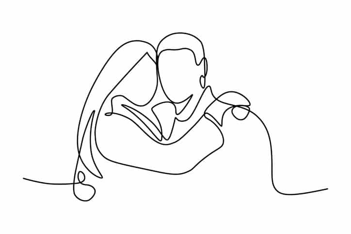 Portrait of couple in love