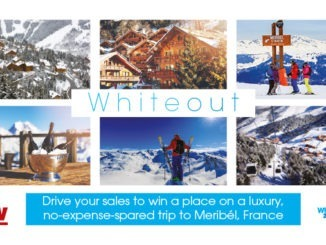 Whiteout - drive your sales to win a place on a luxury, no-expense-spared trip to Meribél, France - Vow Wholesale