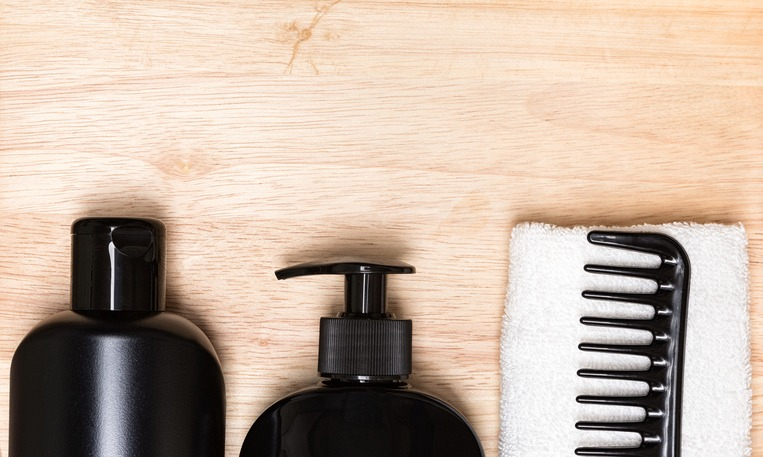Hair beauty products background